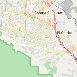 corona ca map with zip codes