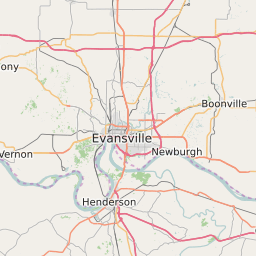 Evansville Indiana Zip Code Map Updated August 2020